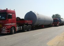 3-axle extendable low-bed trailer