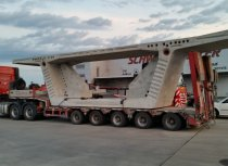5-axle extendable semi low-bed trailer